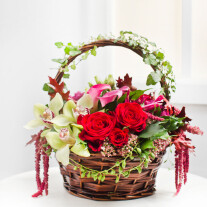 Wonderful Flower Arrangement in Basket